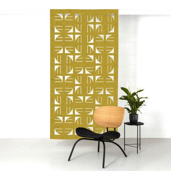 Mustard flux hanging screen