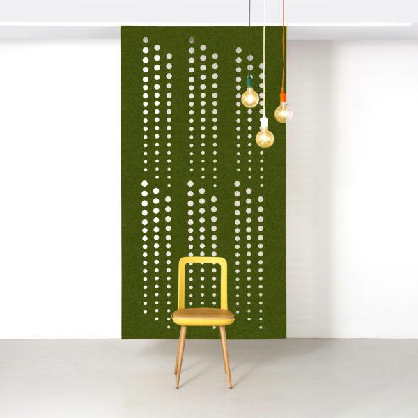 Moss Green Sequence hanging screen